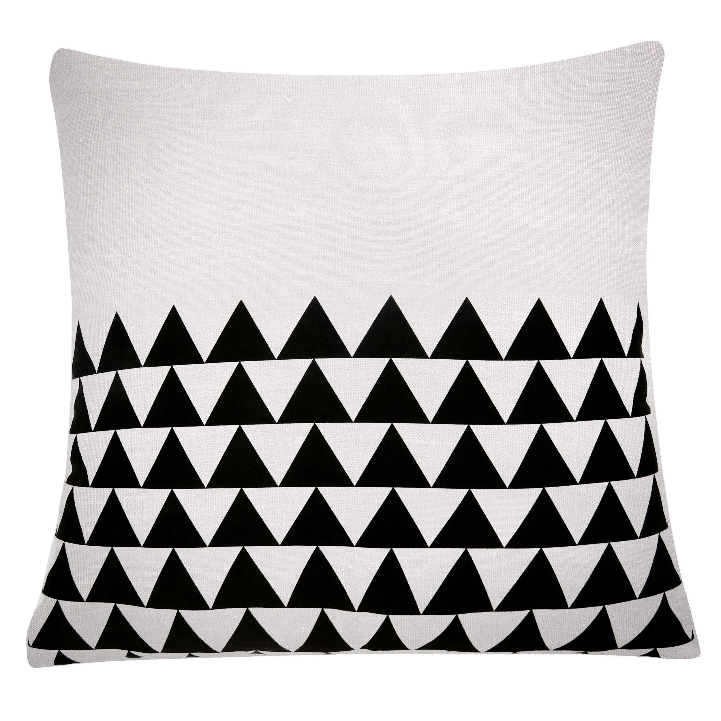 coussin bicolore noir et blanc achetez les coussins. Black Bedroom Furniture Sets. Home Design Ideas