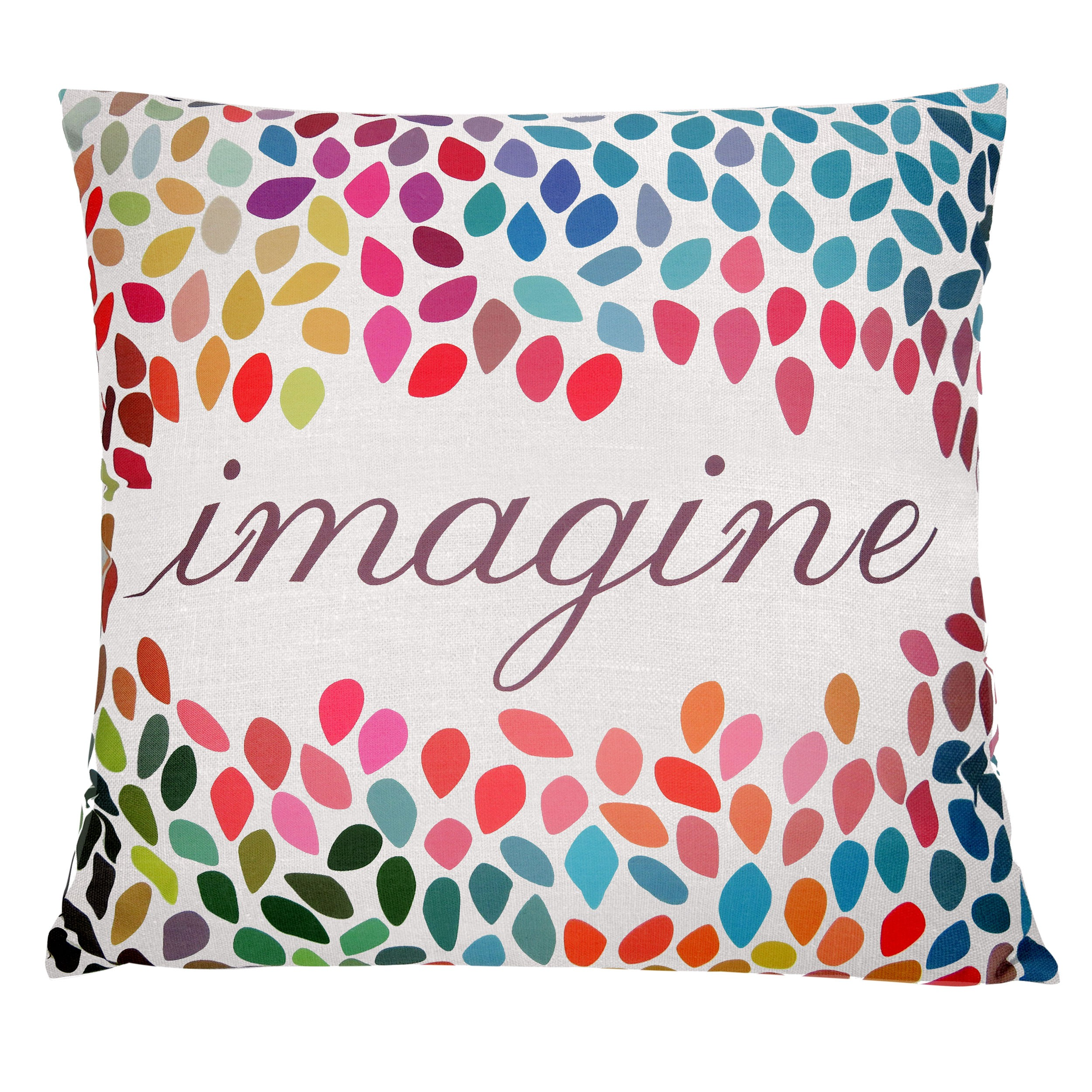 coussin imprime multicolore imagine