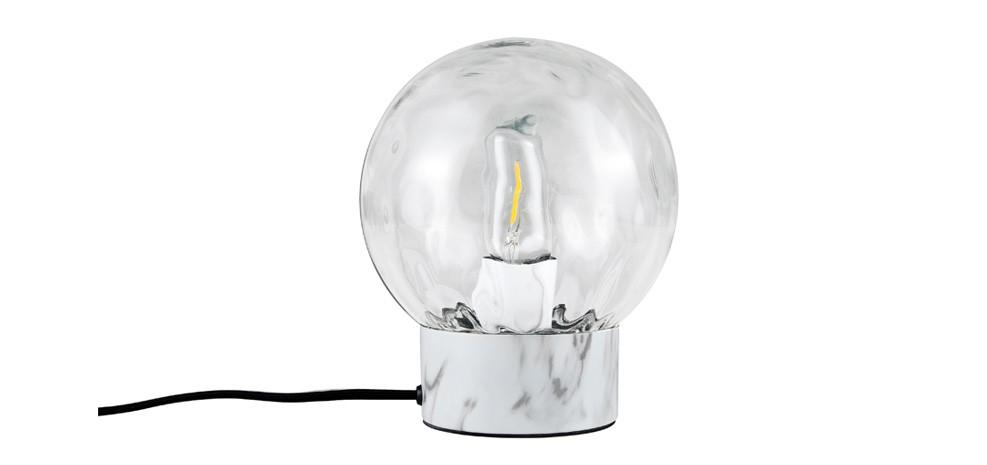 Lampe à poser Sibylle transparente