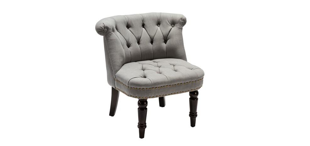 fauteuil crapaud capitonn gris clair achetez nos. Black Bedroom Furniture Sets. Home Design Ideas