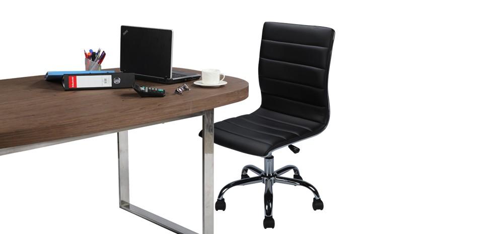 énorme réduction 47beb e8f03 Chaise de bureau Clément noire