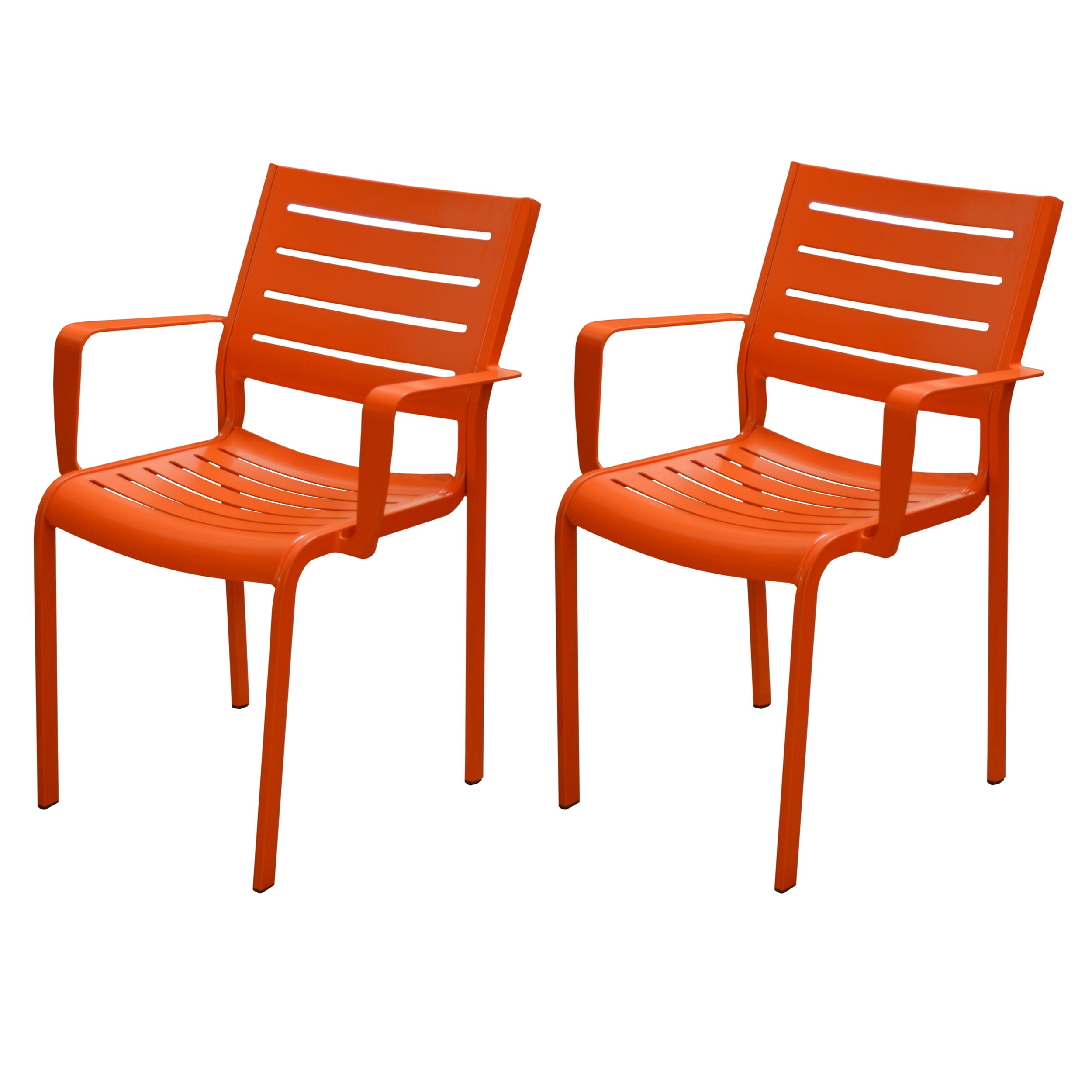 Fauteuil Isla orange (lot de 2)