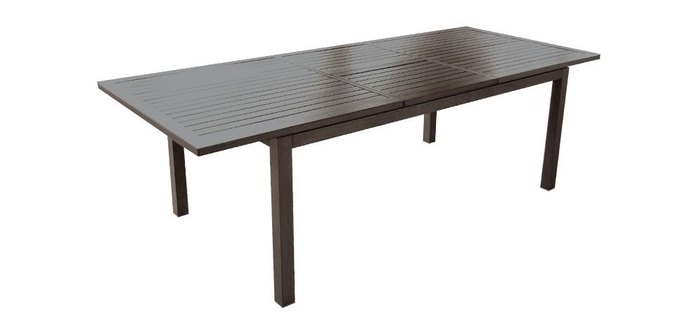 table aluminium exterieur fabulous table ronde salon de. Black Bedroom Furniture Sets. Home Design Ideas