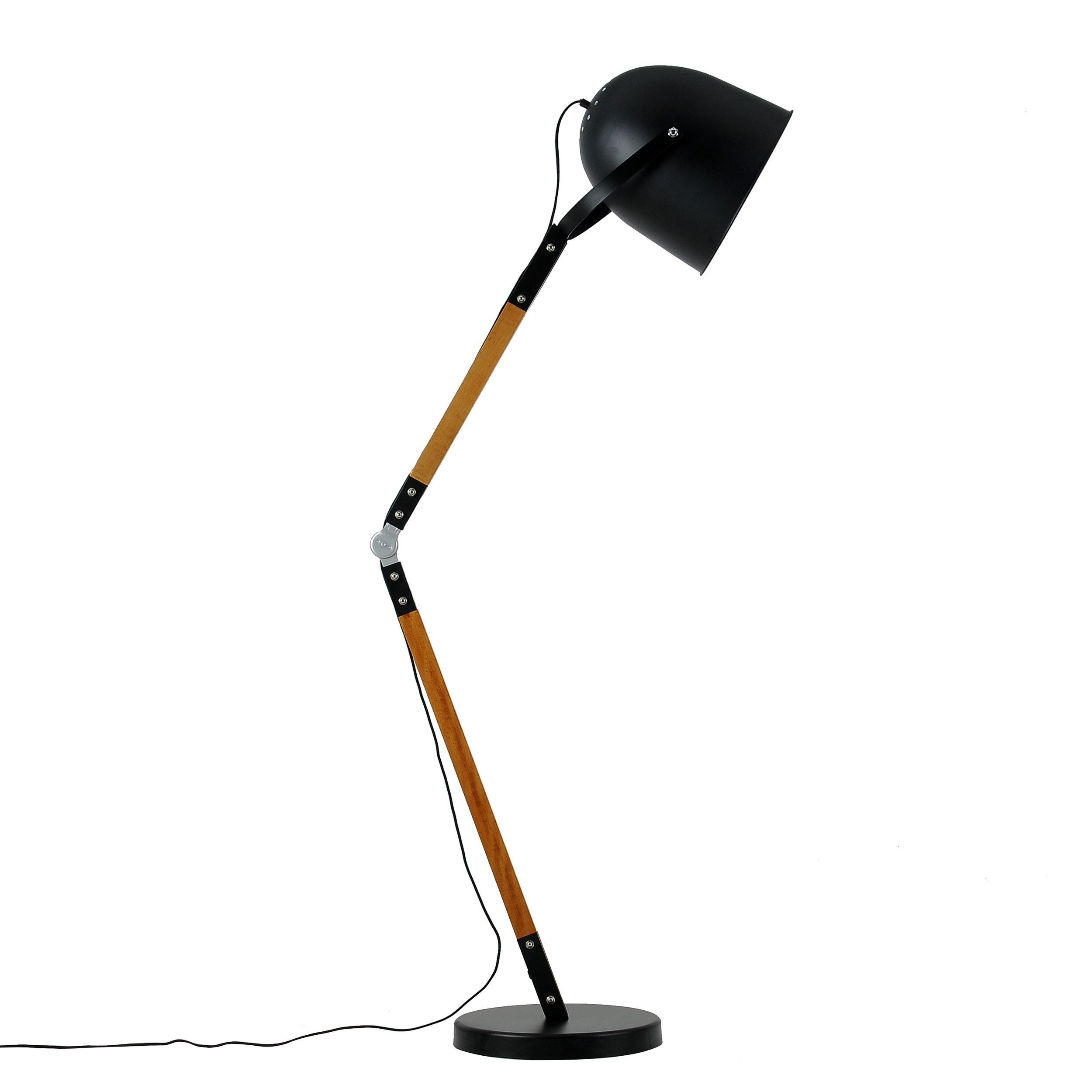 lampadaire architecte noir