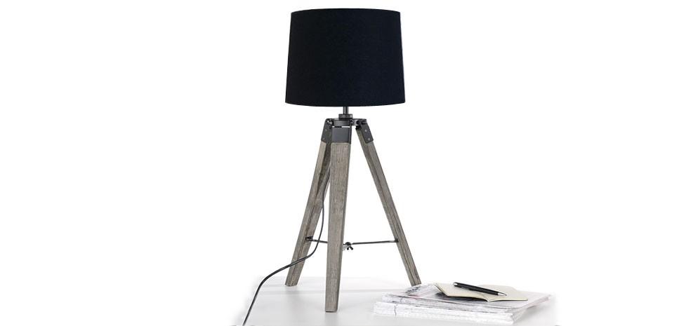 lampe trepied noire prix usine