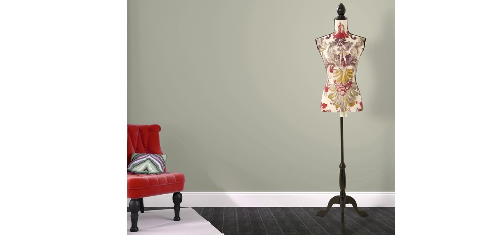 mannequin de couture fleur beige rouge 2