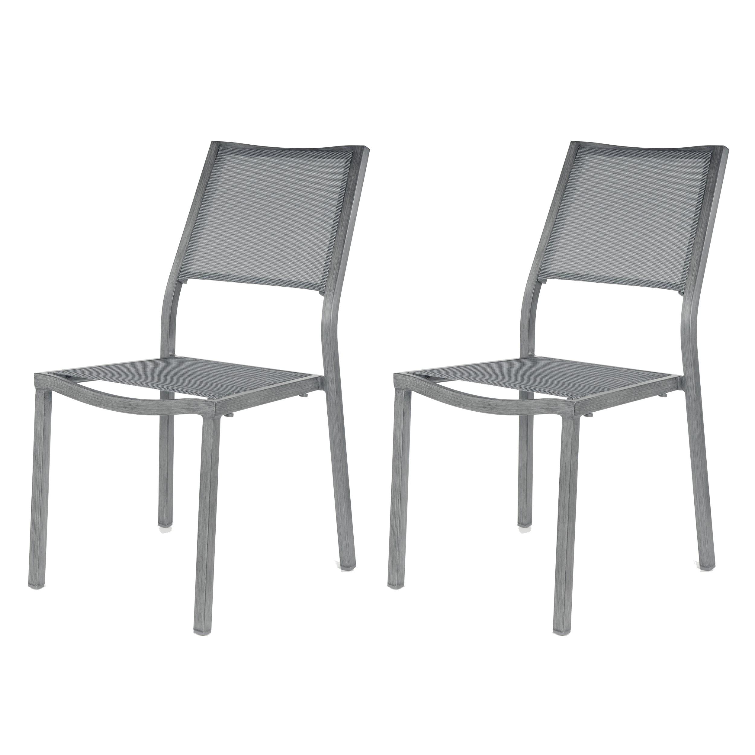 chaise grise pour terrasse pas cher