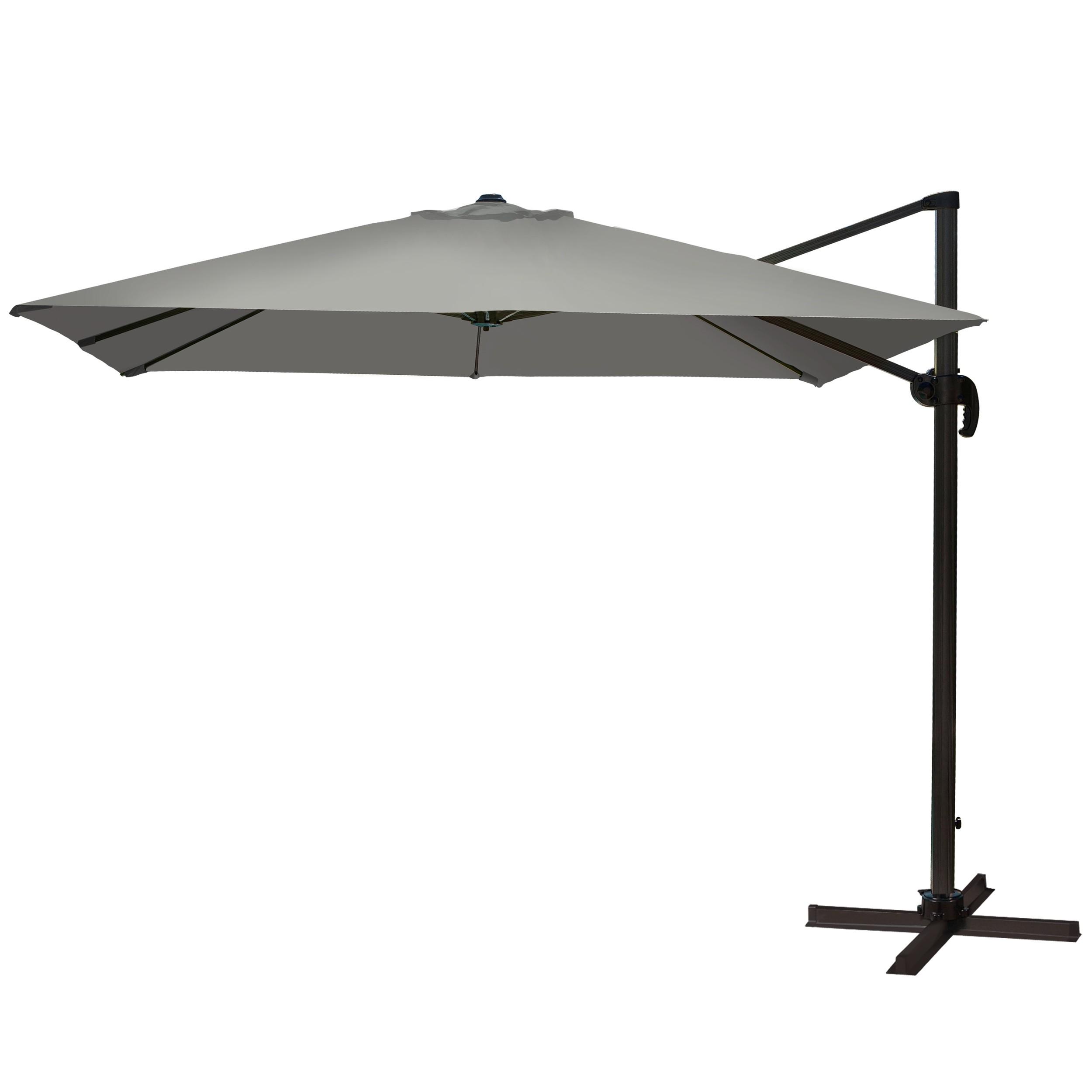 Parasol déporté St Tropez gris : découvrez nos parasols carrés