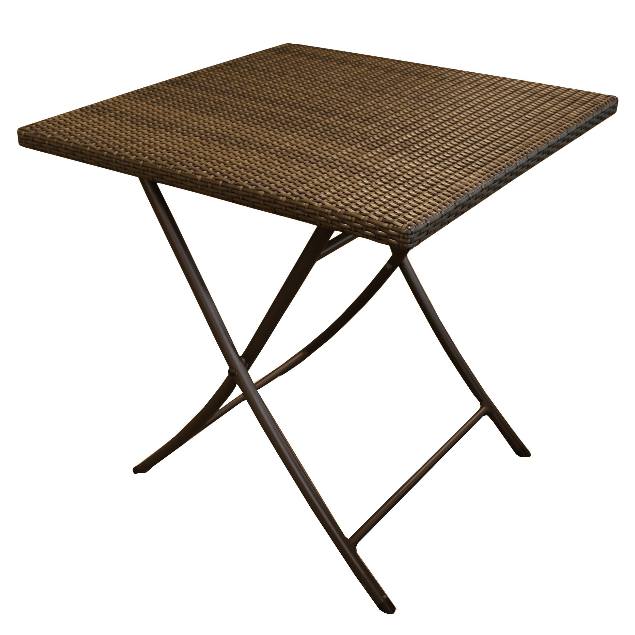 petite table carre marron d exterieur