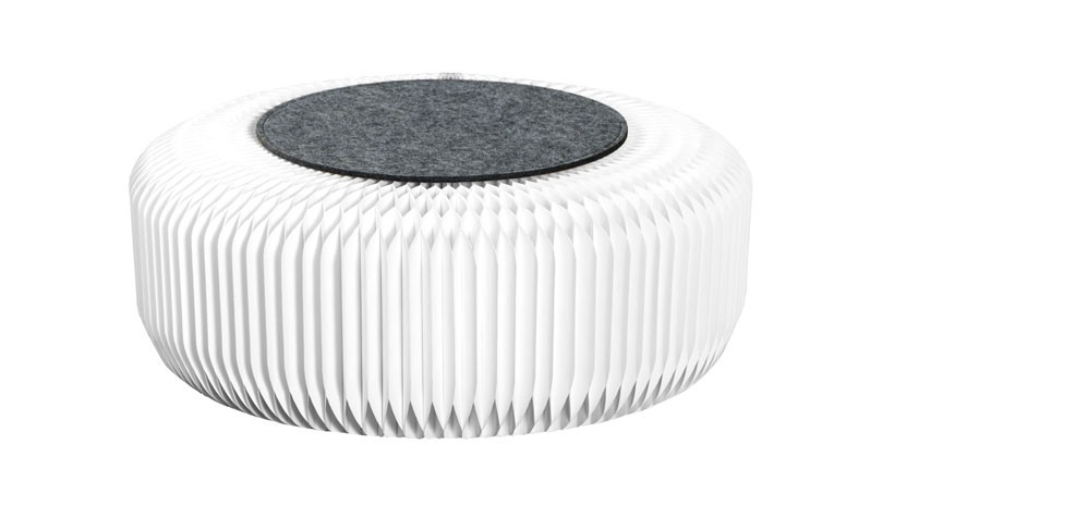 pouf evora blanc en carton poufs evora blanc en carton rdv d co. Black Bedroom Furniture Sets. Home Design Ideas