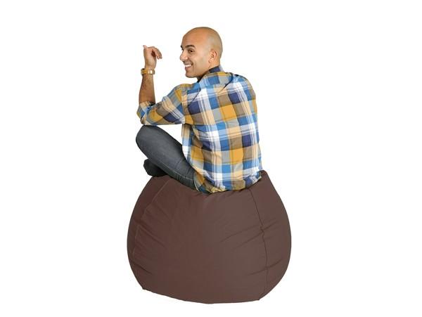pouf poire chocolat sautez sur nos poufs marrons rendez vous d co. Black Bedroom Furniture Sets. Home Design Ideas