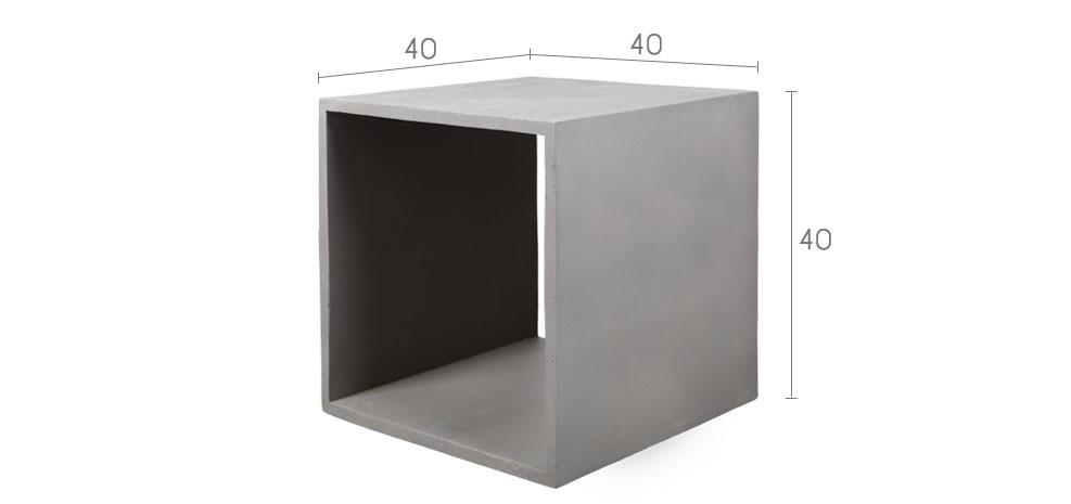 cube en b ton gris d couvrez nos cubes en b ton noirs. Black Bedroom Furniture Sets. Home Design Ideas