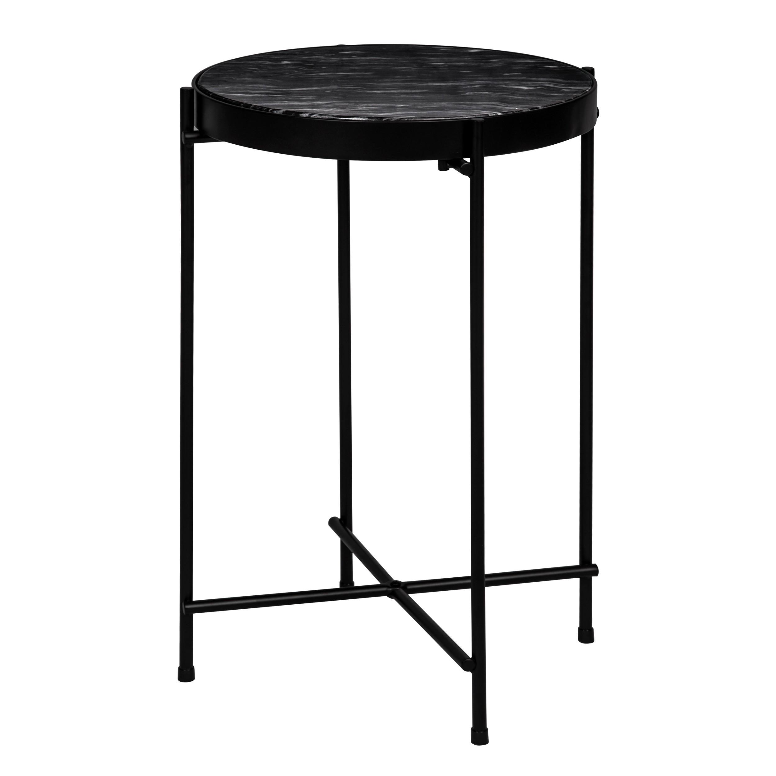 table basse ronde thilda slim marbre noire commandez les tables basses rondes thilda slim. Black Bedroom Furniture Sets. Home Design Ideas
