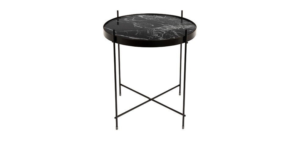 table basse marbre noir design
