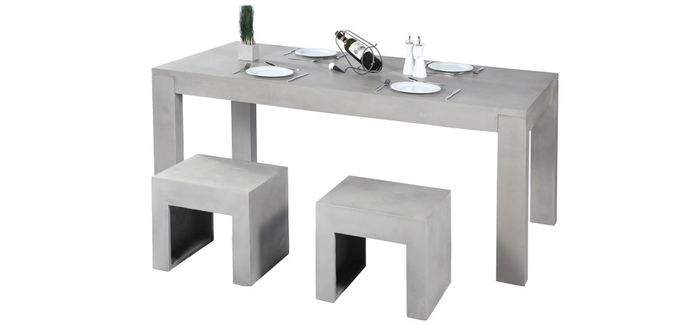 table b ton craquez pour nos tables de cuisine en b ton rdv d co. Black Bedroom Furniture Sets. Home Design Ideas