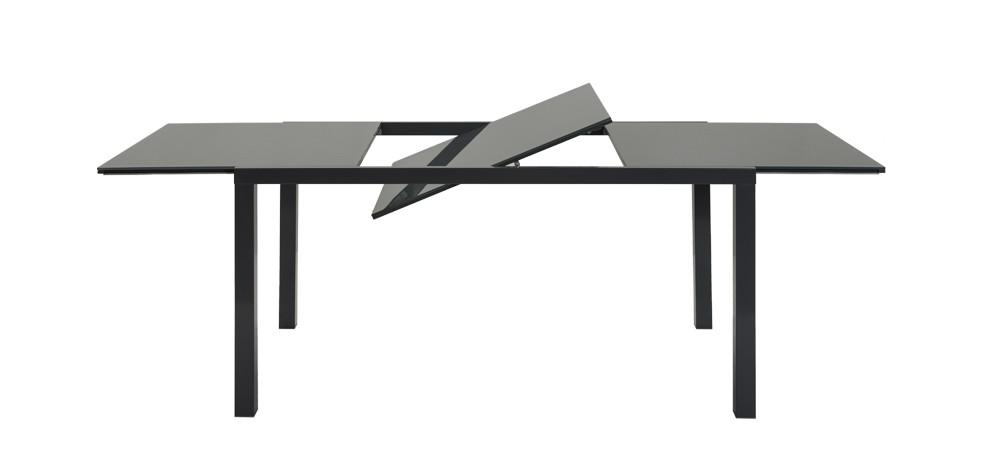 table rectangulaire extensible grise en verre commandez nos tables rectangulaires grises en. Black Bedroom Furniture Sets. Home Design Ideas