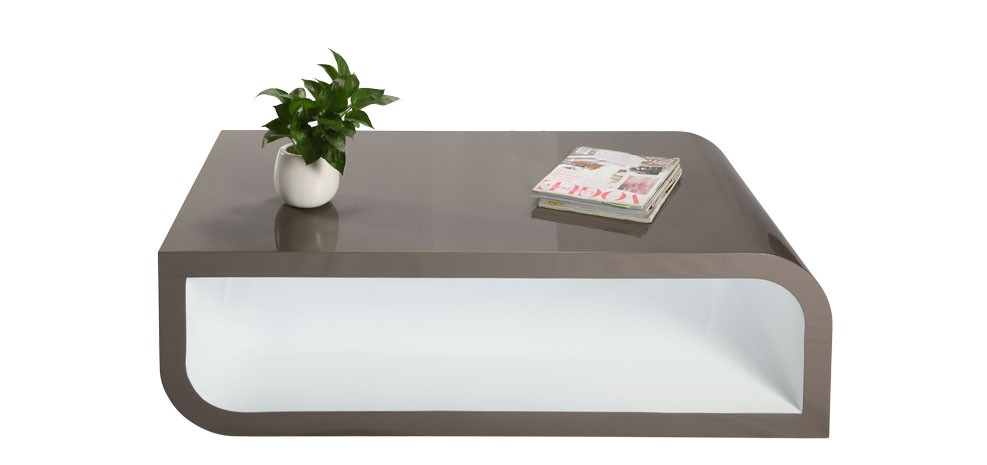 Table Basse Trema Blanche Et Taupe