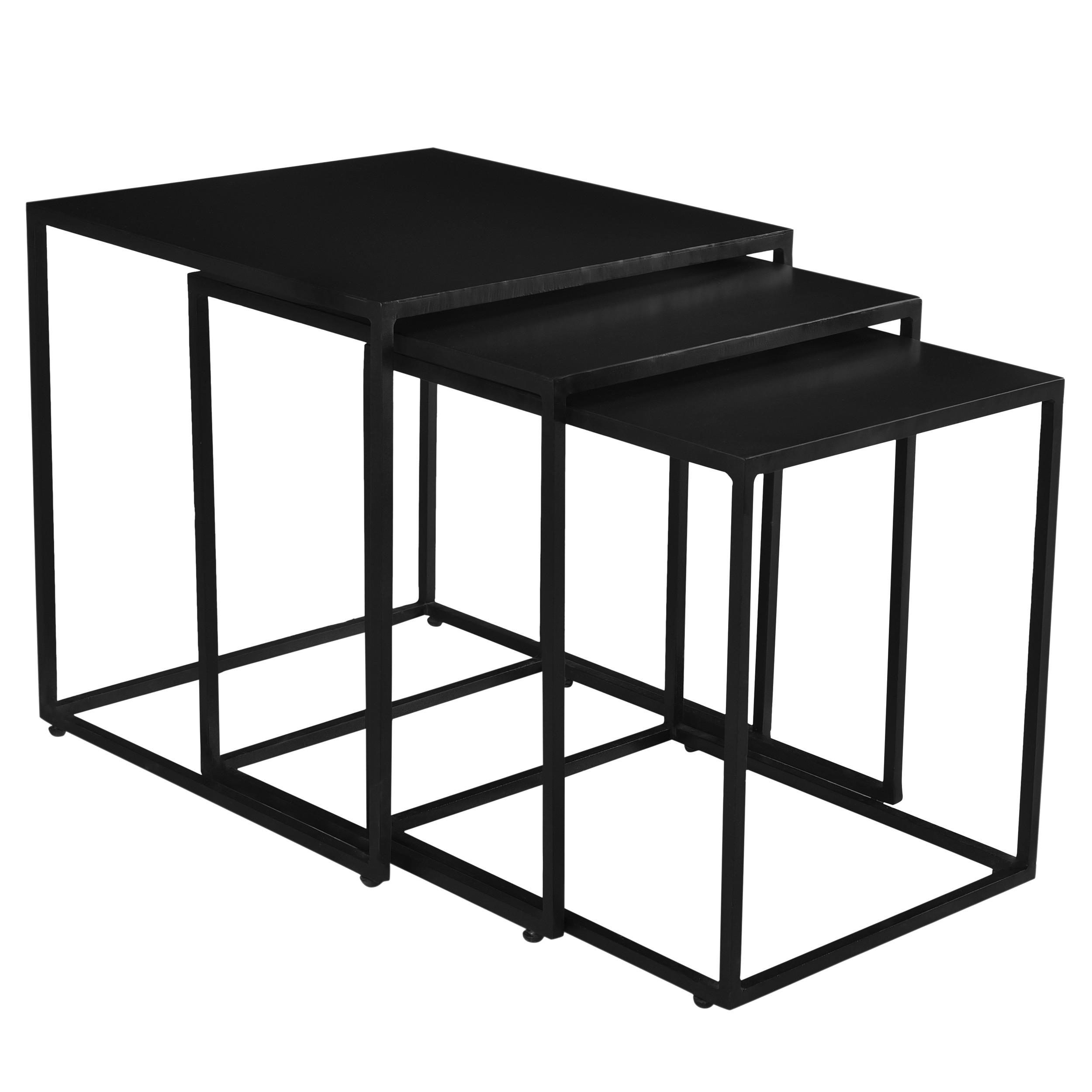 table basse gigogne leela carr e en m tal lot de 3 achetez nos tables basses gigognes leela. Black Bedroom Furniture Sets. Home Design Ideas