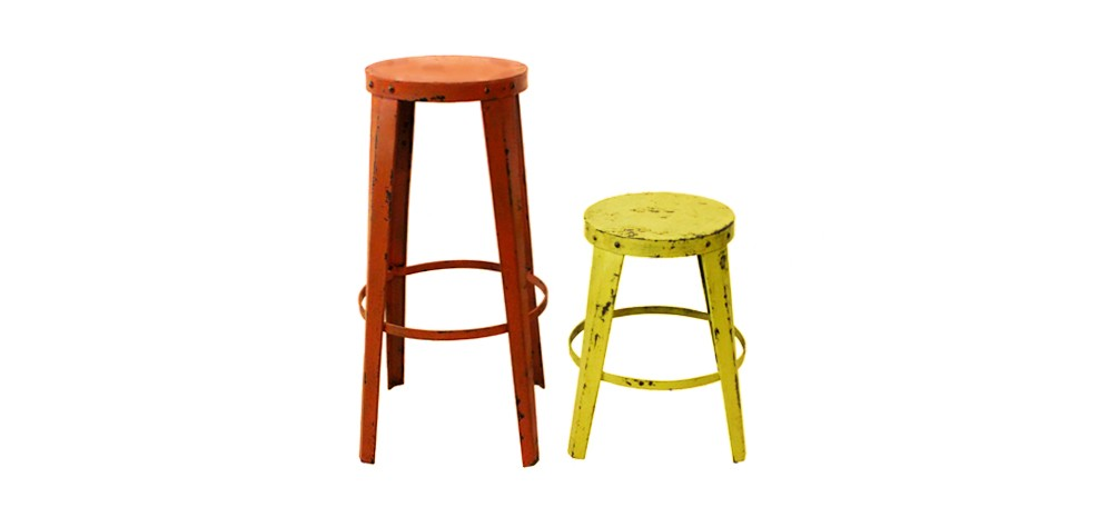 tabouret de bar loft orange achetez nos tabourets de bar. Black Bedroom Furniture Sets. Home Design Ideas