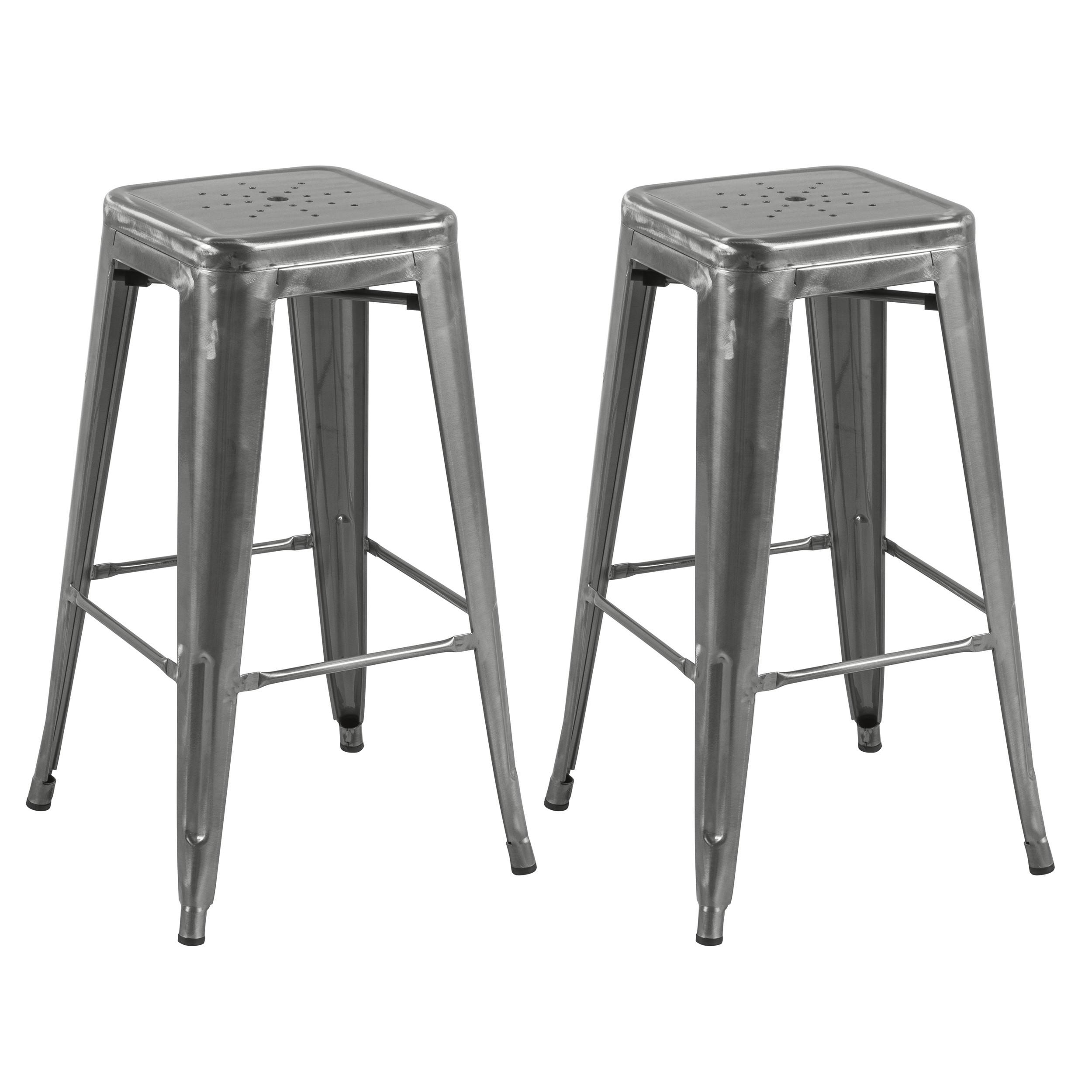 tabouret de bar indus chrome lot de 2 commandez les tabourets de bar indus chrome rdv d co. Black Bedroom Furniture Sets. Home Design Ideas