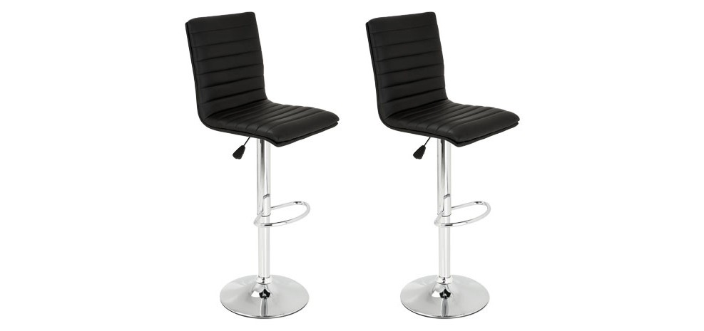 tabourets de bar swing noirs lot de 2 adoptez nos tabourets de bar swing noirs par 2 rdv d co. Black Bedroom Furniture Sets. Home Design Ideas