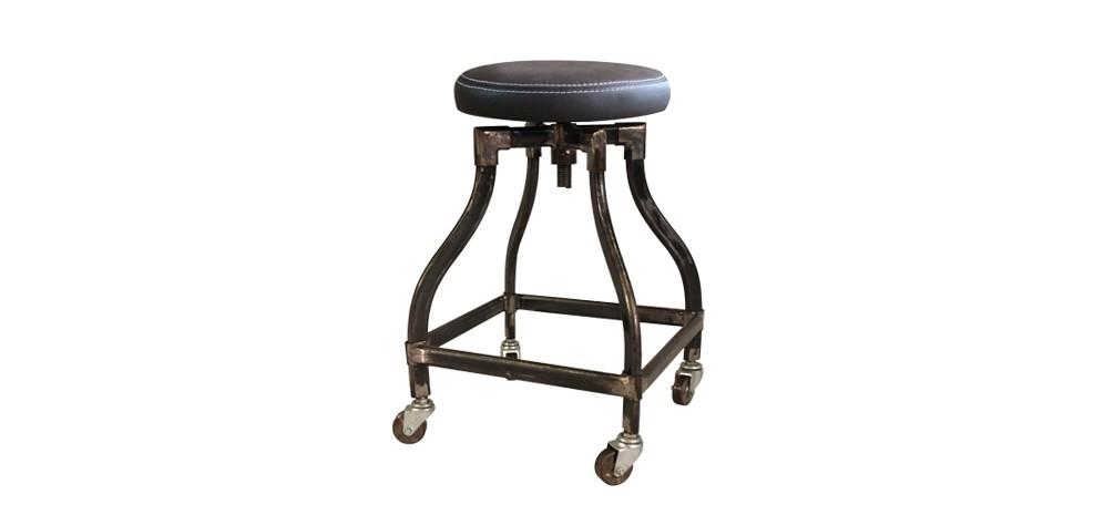 tabouret gris en m tal commandez nos tabourets en m tal type loft rdvd co. Black Bedroom Furniture Sets. Home Design Ideas