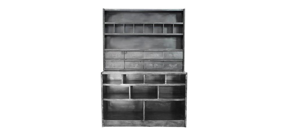 vaisselier en m tal achetez nos vaisseliers m tal vintage rdv d co. Black Bedroom Furniture Sets. Home Design Ideas