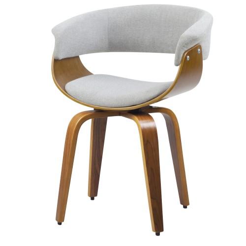 achat chaise confort gris arrondie