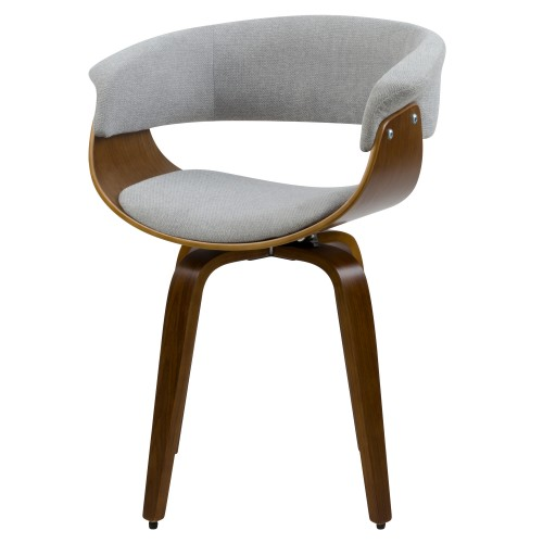 achat chaise confortable grise arrondie