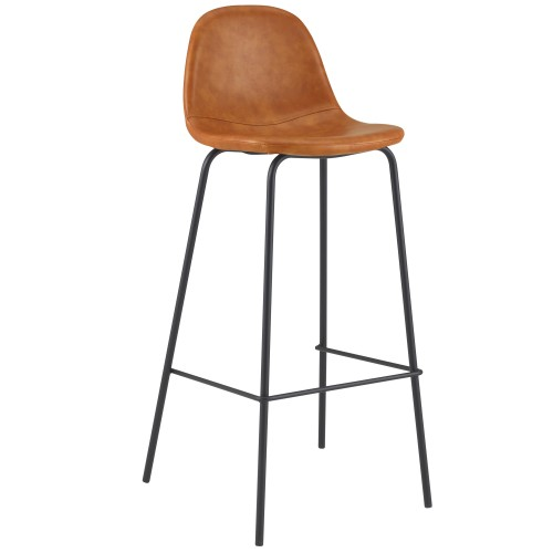 Chaise de bar Henrik camel 75 cm (lot de 2)