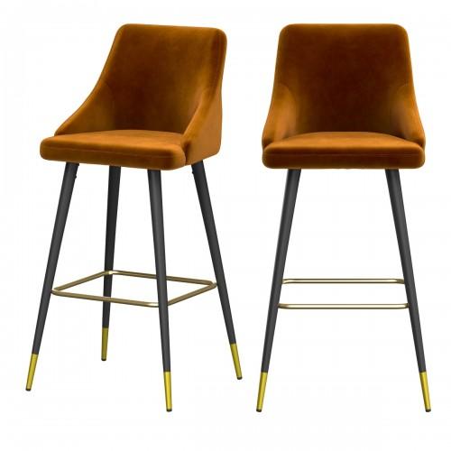 achat chaise de bar confortable en velours