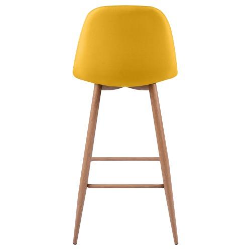 chaise de bar jeune orange