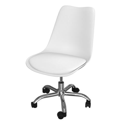 achat chaise de bureau blanche