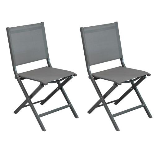 achat chaise de jardin grise sombre