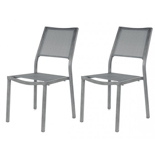 Chaise Roma grise (lot de 2)