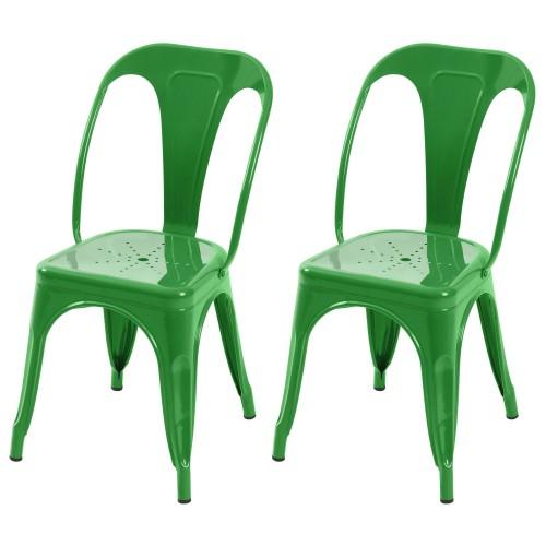 Chaise Indus verte (lot de 2)