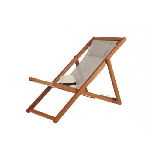 achat chaise longue pliable taupe pas cher