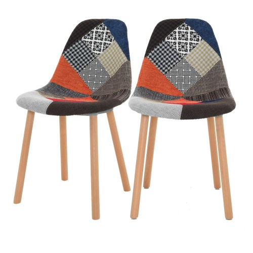 Chaise Arctik Patchwork (lot de 2)