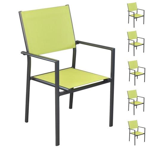 achat chaise verte lime carree pour le jardin