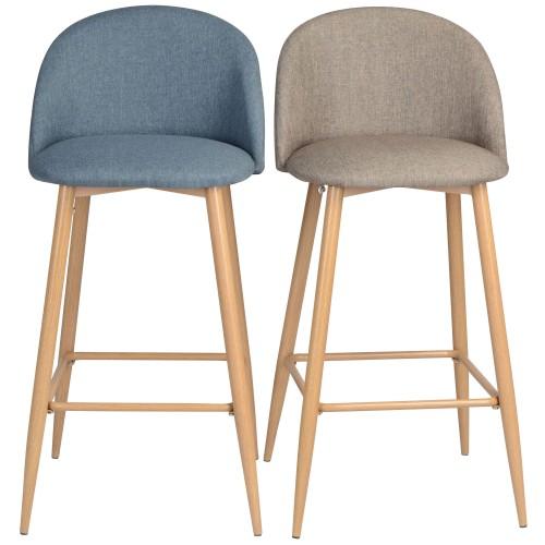 chaise de bar eb tissu