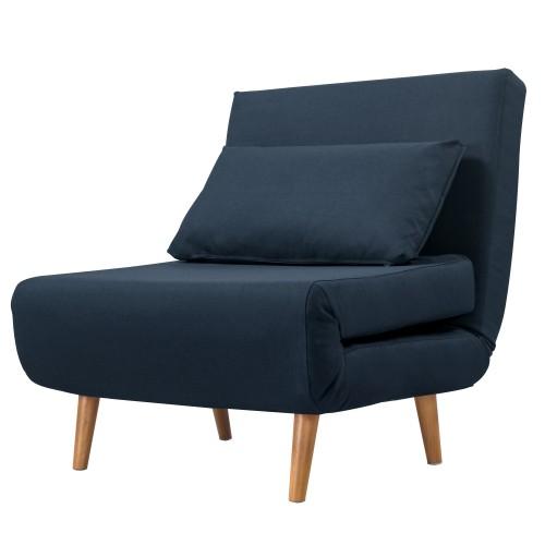 achat fauteuil pratique bleu tissu
