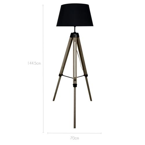 lampadaire trepied marine acheter un lampadaire trepied bois rendez vous d co. Black Bedroom Furniture Sets. Home Design Ideas