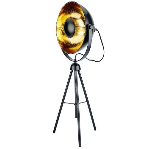 Lampe à poser trépied Roxie noire M