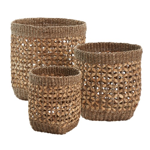 achat panier lot de 3 en fibre naturelle