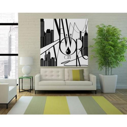 achat poster new york dessin noir et blanc pas cher