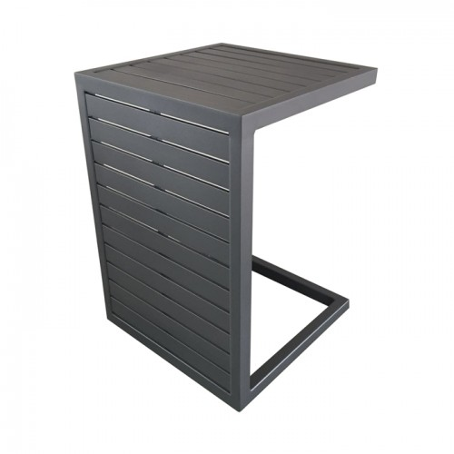 Table basse grise en aluminium Lou