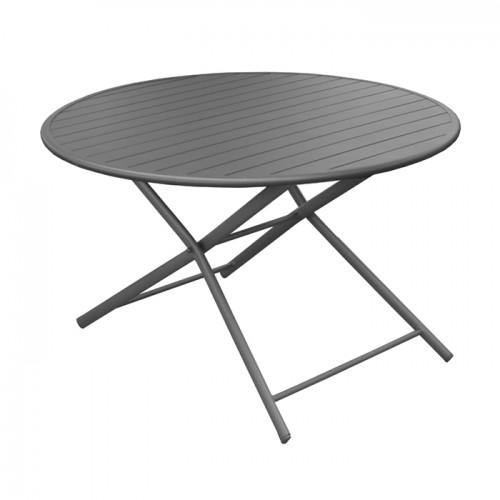 Table de jardin Globe pliante grise 120 cm