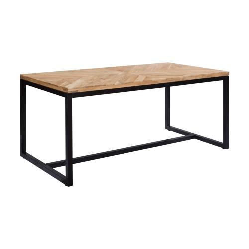 achat table plateau bois pieds metal