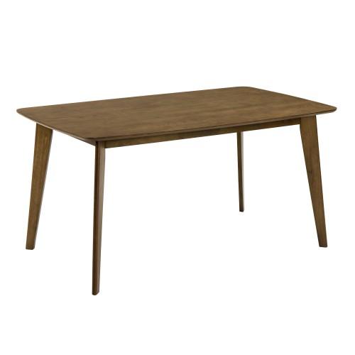 Table rectangulaire Oman 150 cm en bois foncé