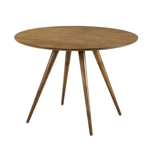 achat table ronde bois fonce